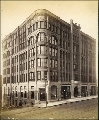 Burke Block, northwest corner of 2nd Ave. and Marion St., Seattle, Washington, ca. 1891.