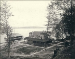 Madrona Hotel and boat house, Madrona Park, Seattle, Washington, ca. 1892.
