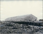 Puget Sound Wire and Nail Company nail plant building under construction, Everett, Washington,...