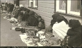 Indian women selling baskets along Lincoln Street, Sitka, Alaska, ca. 1894