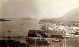 Sitka harbor looking south, Alaska, ca. 1897.