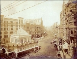 Pioneer Square, looking north on 1st Ave. from James St., Seattle, Washington, 1893