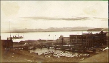 Seattle waterfront and Puget Sound taken from near 1st Ave. and Columbia St., Seattle, Washington,...