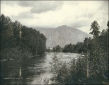 Snoqualmie River and Mount Si, Washington, ca. 1892.