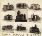 Collage of photographs of public schools, Seattle, Washington, ca. 1891.