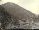 White's Creek Bridge and Three Tunnels, British Columbia, ca. 1887.