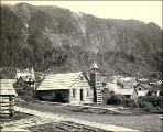 Log cabin Presbyterian Church, Juneau, Alaska, ca. 1897.