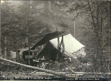 Hungry Man's Retreat restaurant at Porcupine Creek, White Pass Trail, Alaska, 1897.