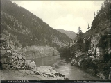 Hell's Gate Canyon, Fraser River, British Columbia, ca. 1887.