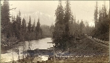 Snoqualmie River with Mount Si in the background, Washington, ca. 1891.