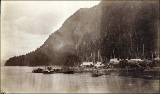 Remains of the steamboat ANCON wrecked near the Loring Cannery in August 1889, Loring Bay, Alaska,...