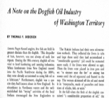 Note on the Dogfish Oil Industry of Washington Territory