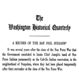 Record of the San Poil Indians