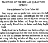 Traditions of the Hoh and Quillayute Indians: How a Quillayute Chief Got a Clallam Wife