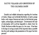 Native Villages and Groupings of the Columbia Basin
