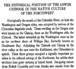 The Historical Position of the Lower Chinook in the Native Culture of the Northwest