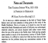Notes and Documents: The Yakima Indian War, 1855-1856: A Problem in Research