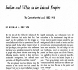 Indian and White in the Inland Empire: The Contest for the Land, 1880-1912