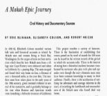 Makah Epic Journey: Oral history and Documentary Sources