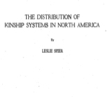 The distribution of kinship systems in North America