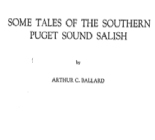 Some tales of the southern Puget Sound Salish