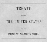 Treaty between the United States and the Indians of Willamette Valley.