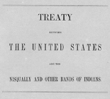 Treaty between the United States and the Nisqually and other bands of Indians