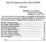Executive orders relating to Indian reservesIdaho