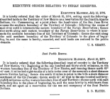 Executive orders relating to Indian reservesOregon