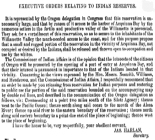 Executive orders relating to Indian reservesWashington Territory