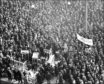 Labor rally of unemployed persons at the City Hall Park, Seattle, Washington, February 10, 1931.