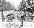 Northern view of 2nd Ave. from Seneca St. showing regrade work, Seattle, Washington, August 24,...