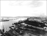 Looking northwest from W. Hanford St. toward Harbor Island, Seattle, Washington, April 24, 1915.