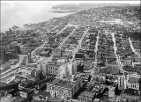 Aerial view of the Denny Regrade area looking north, Seattle, Washington, July 5, 1928.