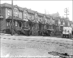 Residences on the east side of 5th Ave. between Madison St. and Marion St., Seattle, Washington,...