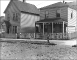 Houses at northeast corner 7th Ave. N. and Thomas St., Seattle, Washington, April 12, 1911.