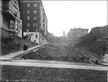 Eastern view on Marion St. from 5th Ave. showing regrade work, Seattle, Washington, January 2,...