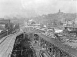 Oregon-Washington Railroad and Navigation Company depot at 4th Ave. S. and Jackson St., Seattle,...