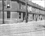 Apartments near Denny Way, Howell St. and Eastlake Ave., Seattle, Washington, September 27, 1911.
