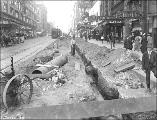 Northern view of 2nd Ave. from Union St. showing regrade work, Seattle, Washington, August 5, 1914.