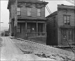 Boarding houses at 423 Cherry St. , Seattle, Washington, December 4, 1909.