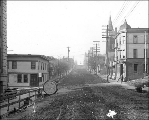Looking north on 5th Ave. from Yesler Way, Seattle, Washington, December 10, 1910.