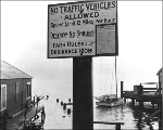 Traffic sign at Madrona Drive and Lake Washington Boulevard, Seattle, Washington, November 30,...