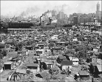 Homeless shantytown known as Hooverville, foot of S. Atlantic St. near the Skinner and Eddy...