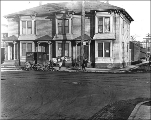 Apartments at northeast corner of Broadway and Union St. looking east, Seattle, Washington,...