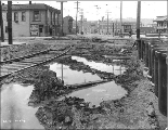 Looking north on 7th Ave. from Olive St. showing regrade work, Seattle, Washington, April 8, 1915.