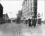 Looking north on 4th Avenue from Pike St., Seattle, Washington, May, 1919.