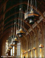 Chandeliers, Vaulted Ceiling, Suzzallo Library Reading Room
