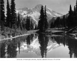 Mount Rainier reflected in one of the Mirror Lakes near Indian Henry's Hunting Ground, n.d.