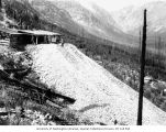 Dump site at Holden Mine, Railroad Creek Valley near Lake Chelan, August 1909